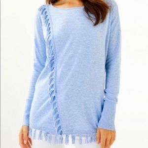 Lilly Pulitzer Blue Peri Emberly sweater NWT